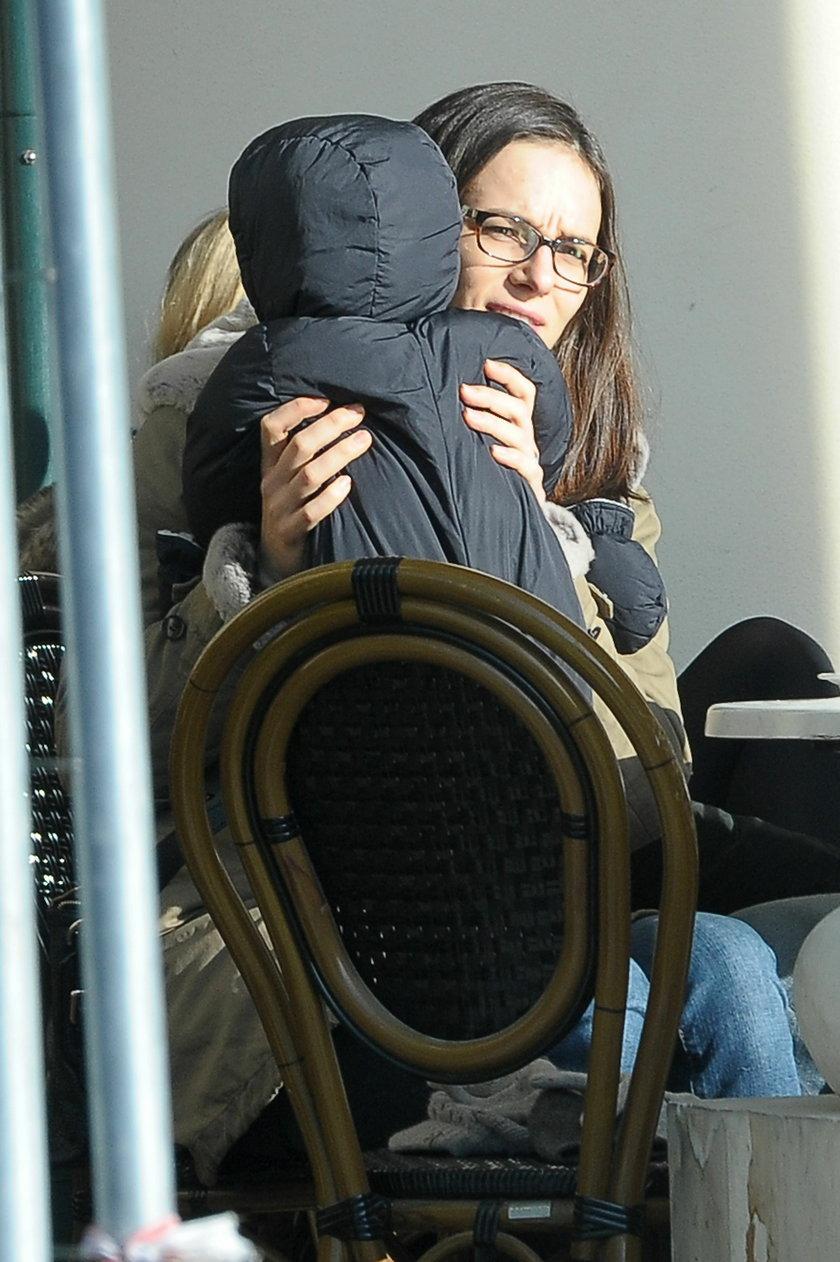 Anna Czartoryska-Niemczycka i Michał Niemczycki z synkiem Ksawerym
