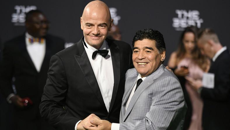 Gianni Infantino i Diego Armando Maradona
