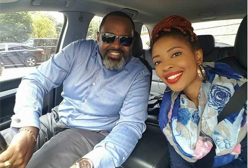 Rare pic of Kambua and her hubby (Instagram)