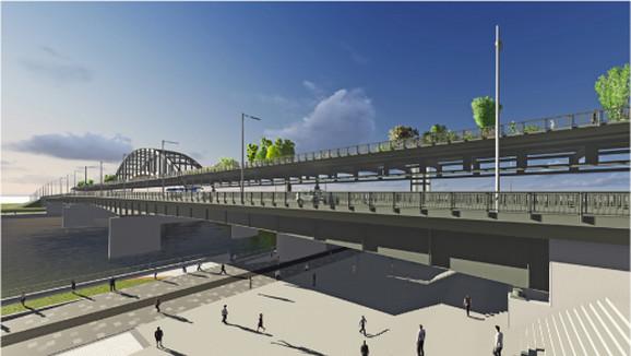 Most će biti isečen, podignut na viši nivo i pretvoren u pešačku biciklističku zonu