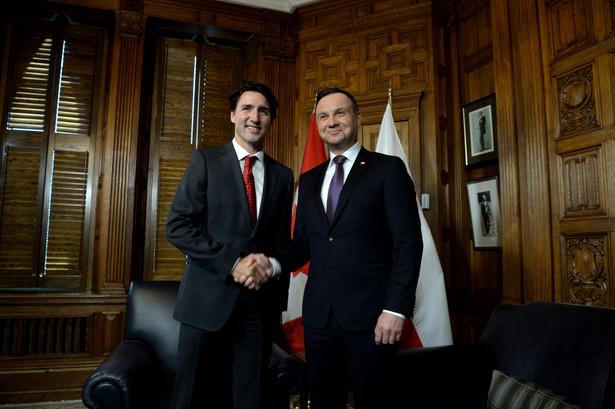 Prezydent podkreślił, że Polska bardzo silnie wspiera umowę handlową CETA między Unią Europejską i Kanadą