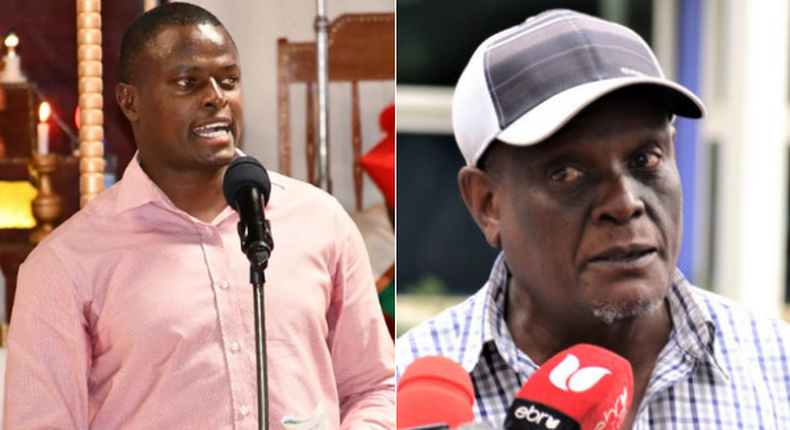 Kiharu MP Ndindi Nyoro and Jubilee party vice chairman David Murathe