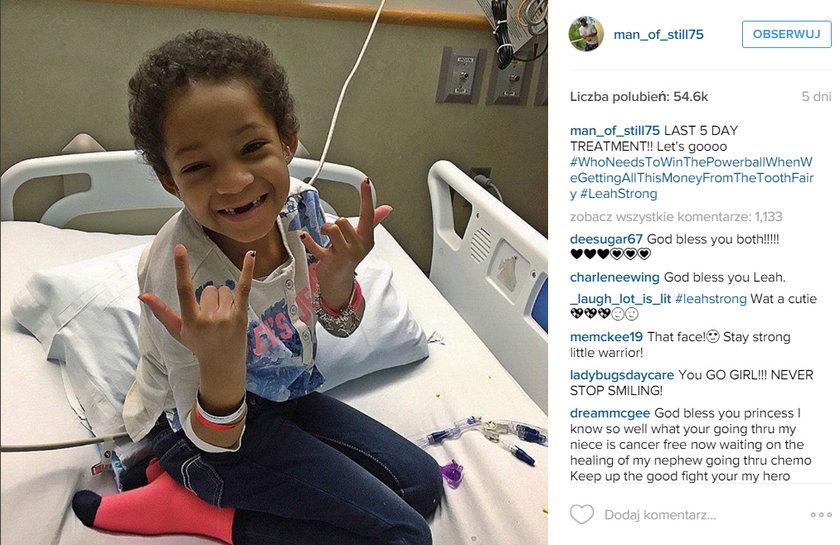 5-letnia córka sportowca wygrała walkę z rakiem