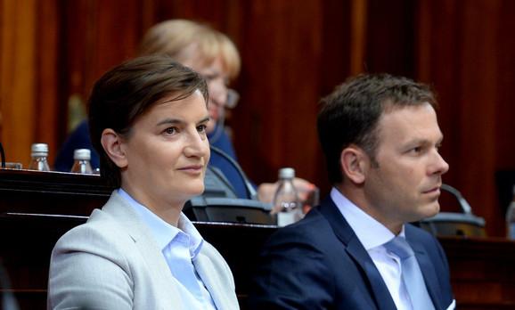 Ana Brnabić i Siniša Mali