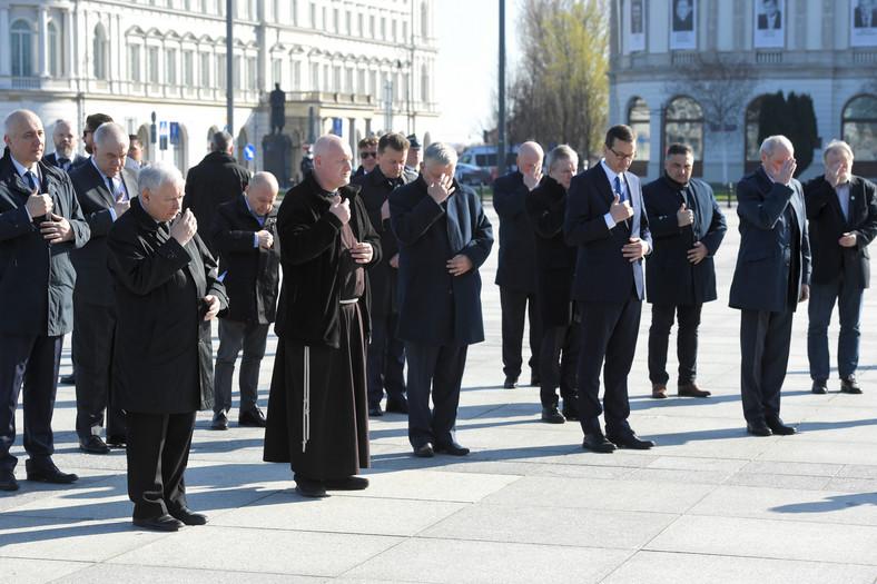 Jarosław Kaczyński, Joachim Brudziński, Jacek Sasin, Marek Suski, Piotr Gliński, Mateusz Morawiecki, Mariusz Błaszczak