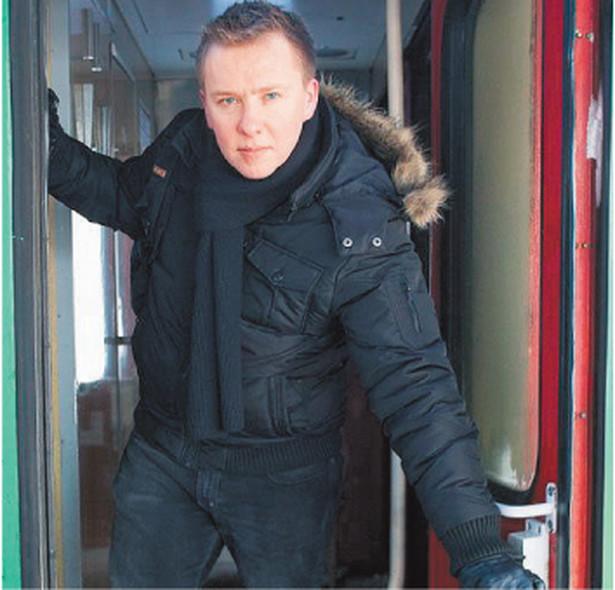 Jarosław Nyk spędził w podróży 8 godzin Fot. Marcin Kaliński