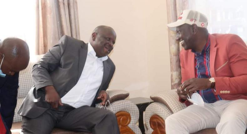 Deputy President William Ruto with former Bomet Governor Isaac Rutto