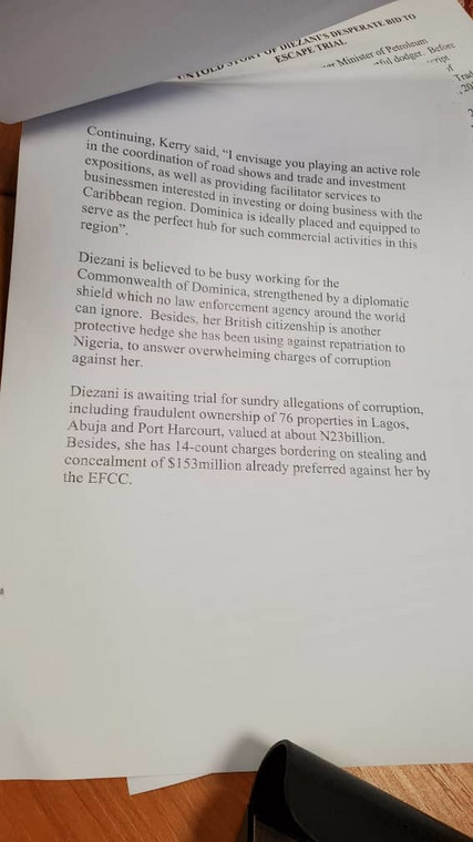 EFCC document on Diezani