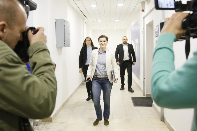 Sastav kabineta će saopštiti Ana Brnabić