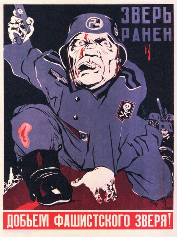Ismevanje neprijatelja čest je motiv na posterima