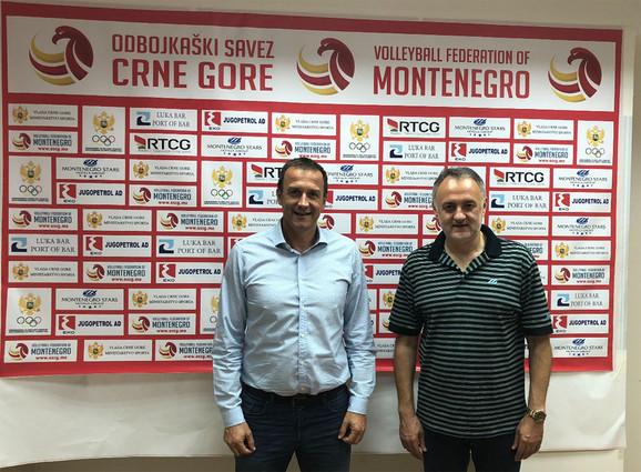 Predsednici dva saveza Cvetko Pajković i Zoran Gajić