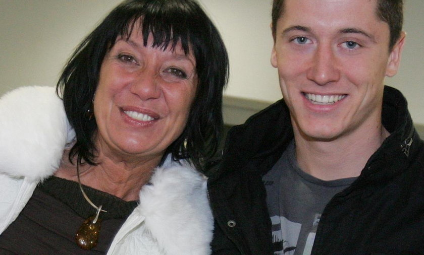 Robert Lewandowski z mamą