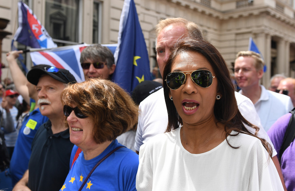 epa06834046 - BRITAIN BREXIT PEOPLES MARCH (People's March Against Brexit in London)