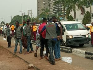 Some of the  drivers arrested during Ikoyi:VI Clean-Up (NAN)