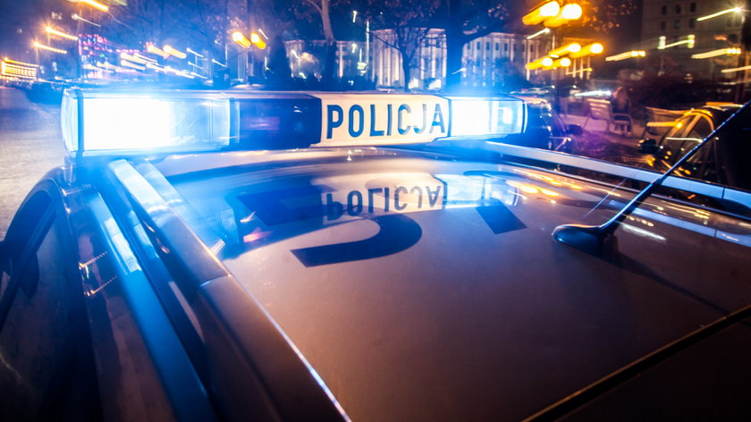 Strzały w Grudziądzu, potrącony policjant.