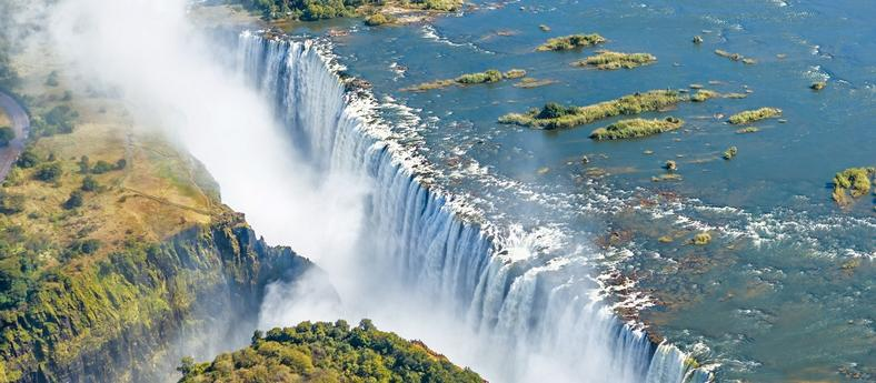 Zimbabwe's Victoria falls aerial view