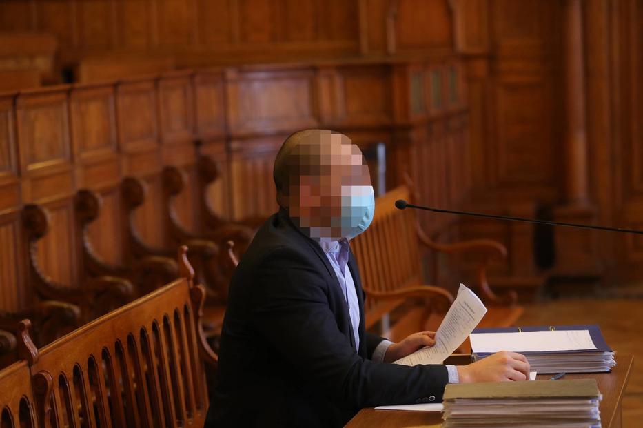 A vádlott a VV Fanni-ügy tárgyalásán / Fotó: Varga Imre