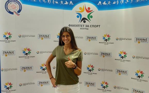Olga Danilović je upisala Fakultet za sport