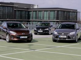 Ford Focus, Mazda 3 i Volkswagen Jetta – trzy sedany z  benzyniakiem. Którego wybrać?