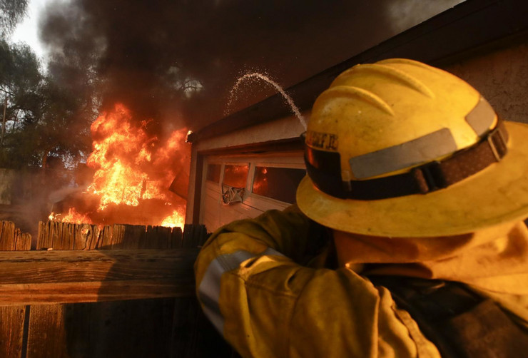 Los Anđeles, Kalifornija, Požar