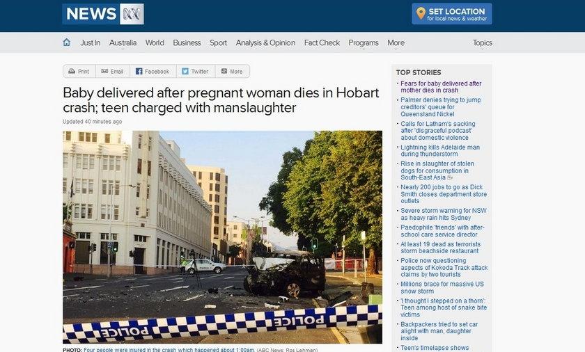 Zmarła w wypadku kobieta urodziła dziecko