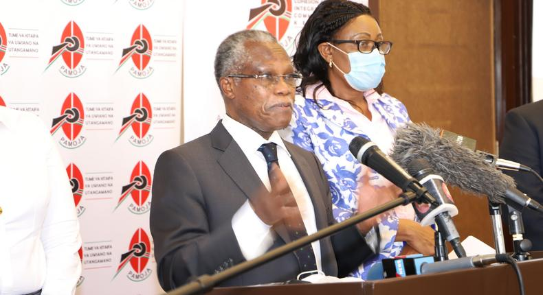 NCIC Chairman, Rev. Dr Samuel Kobia during a press briefing on February 3, 2021