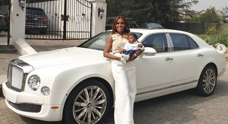 Linda Ikeji acquires a Bentley while away in the United States of America for the birth of her son Jayce. - LIB