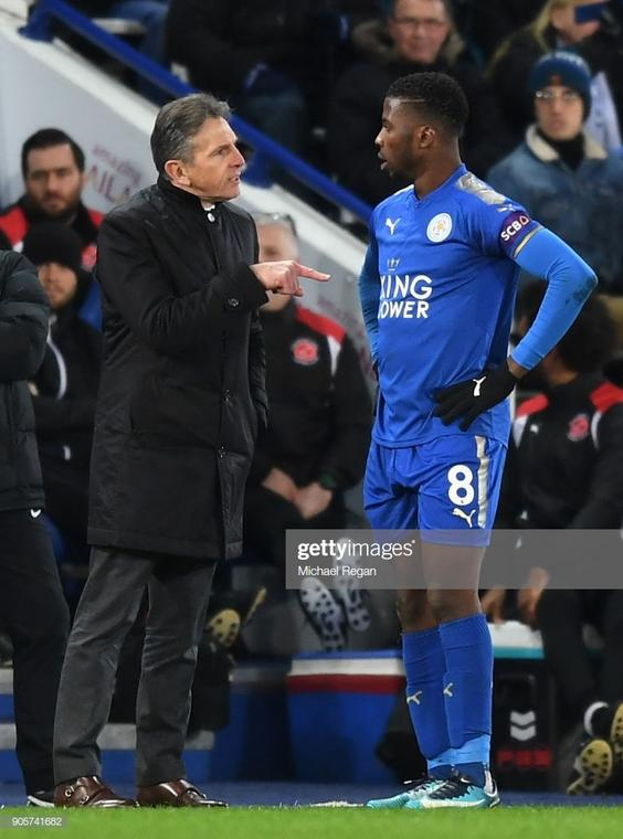 Claude Puel could noyt get Iheanacho to score frequently during his time in charge of Leicester City (Michael Regan/Getty Images )