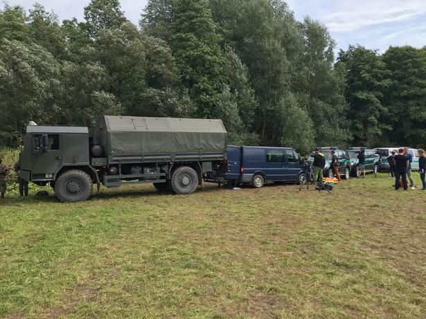 Straż graniczna w pobliżu miejscowości Usnarz Górny