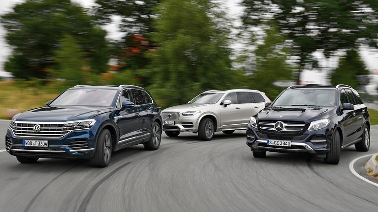 Volkswagen Touareg kontra Volvo XC90 i Mercedes GLE - Downsizing? Nie. Tym razem będzie grubo!