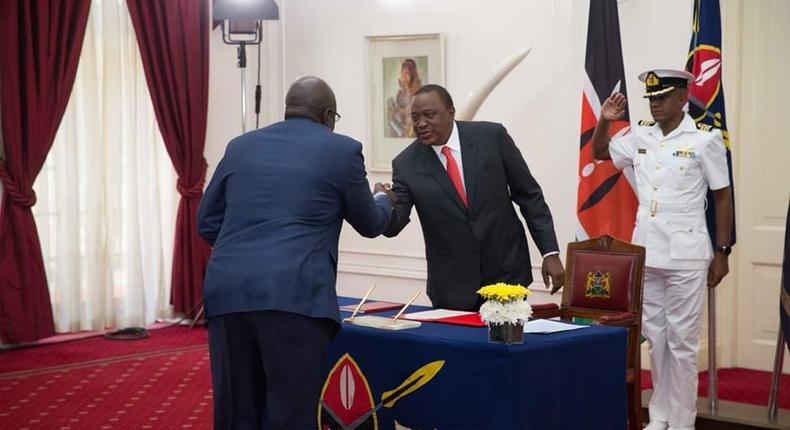 President Uhuru Kenyatta with CS George Magoha