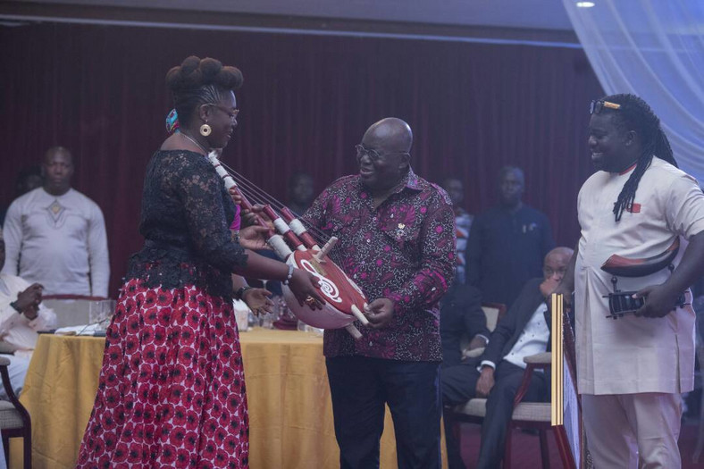 Mrs. Theresa Ayoade, H.E Nana Addo and Obuor