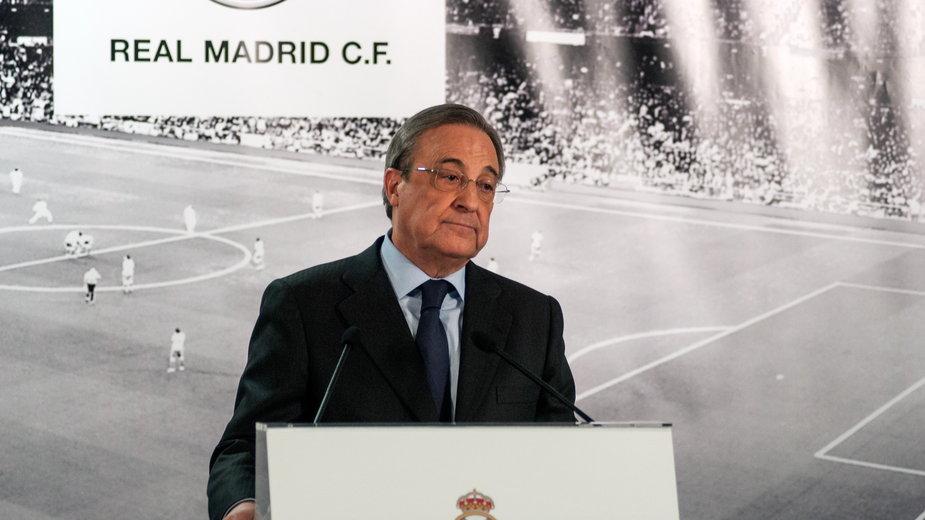 Florentino Perez - prezydent Realu Madryt i prezes Superligi