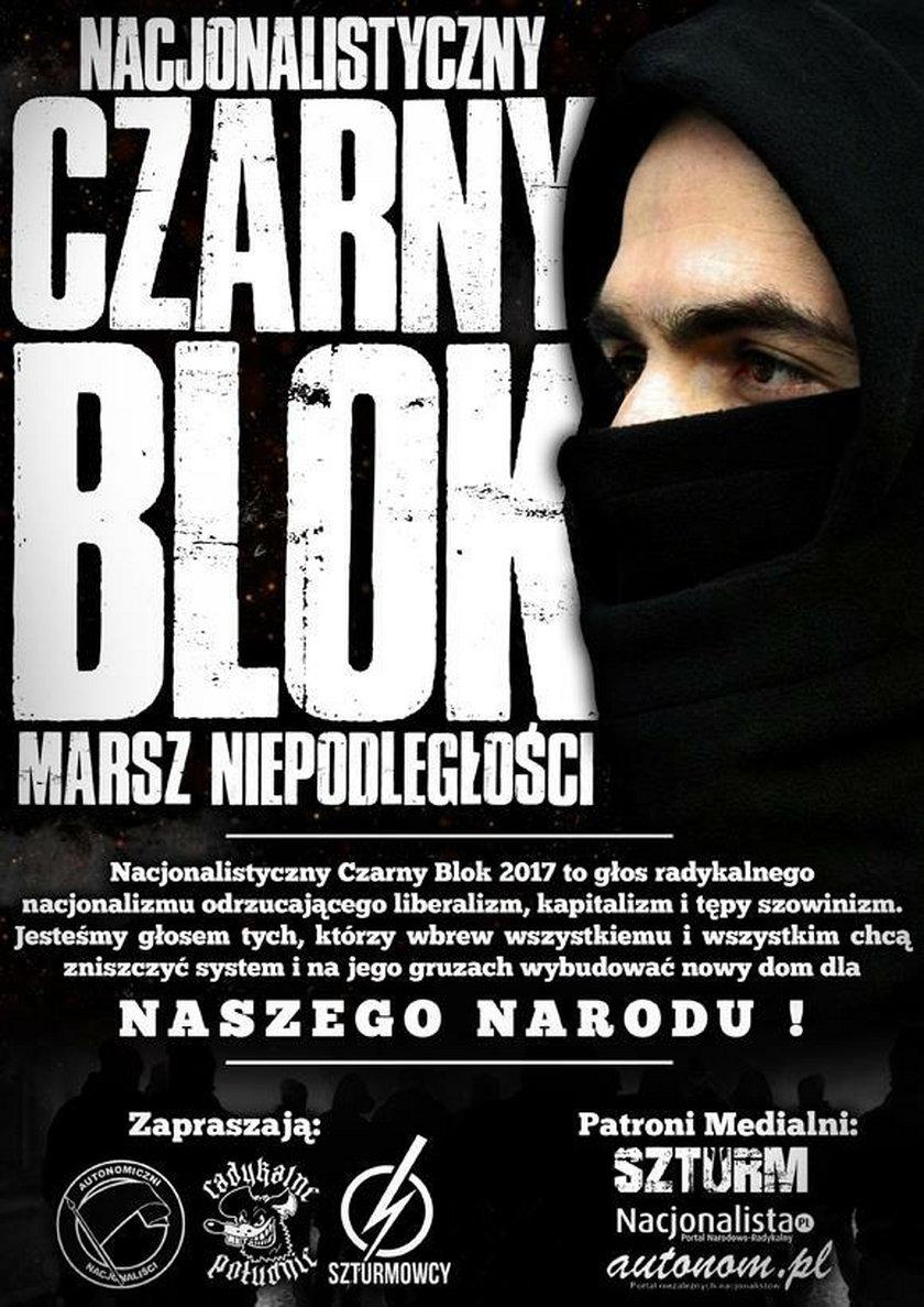 Plakat reklamujący powstanie czarnego bloku