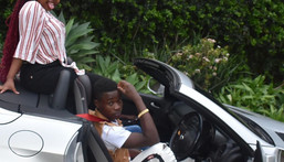 Governor Sonko gifts adopted son Gift Osinya brand new Mercedes Benz as he turns 19 (Photos)