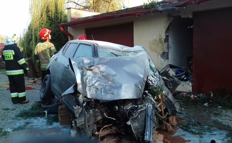 Suzuki Swift po wypadku