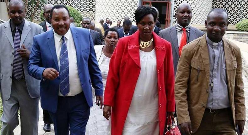 File image of Governor Ferdinand Waititu with his wife Susan Ngun'gu