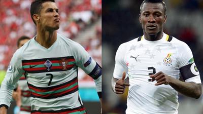 'Gyan is the GOAT!' – Ghanaians react as Ronaldo equals Gyan's international record
