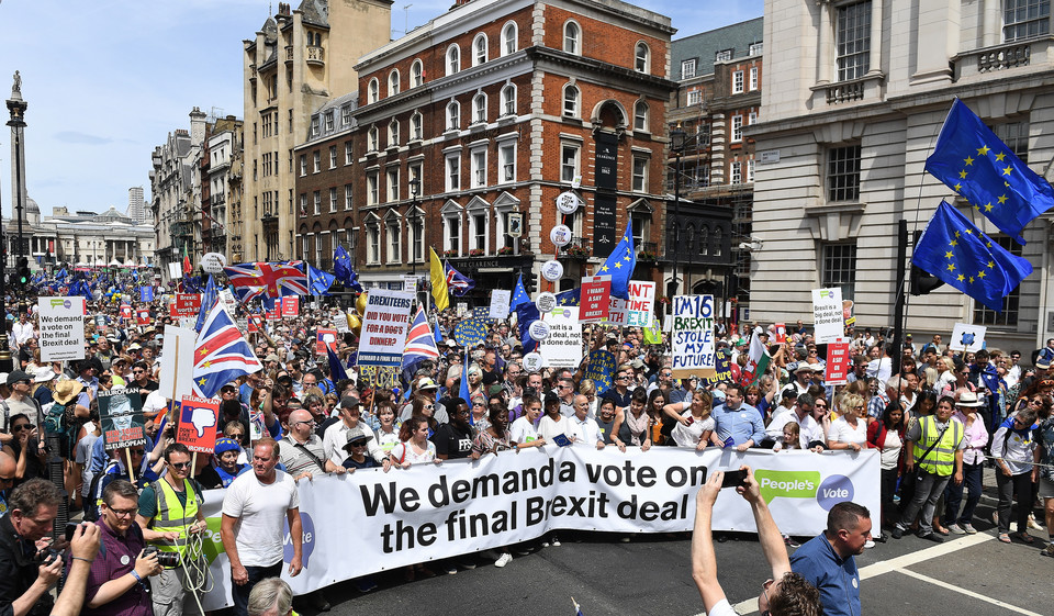 epa06833225 - BRITAIN BREXIT PEOPLE'S MARCH DEMONSTRATION (People's March Against Brexit)