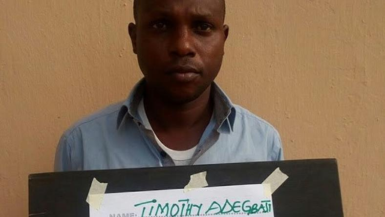 One of the suspects, Timothy Adegbaji Ademiju
