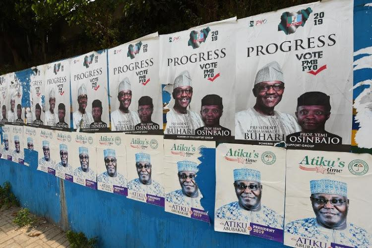 The posters of Buhari and Osinbajo have been plastered all over Lagos (Pius Utomi Ekpei/AFP)
