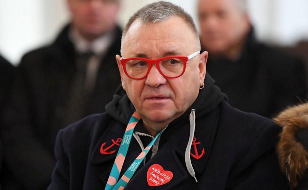 Jerzy Owsiak w Bazylice Mariackiej w Gdańsku