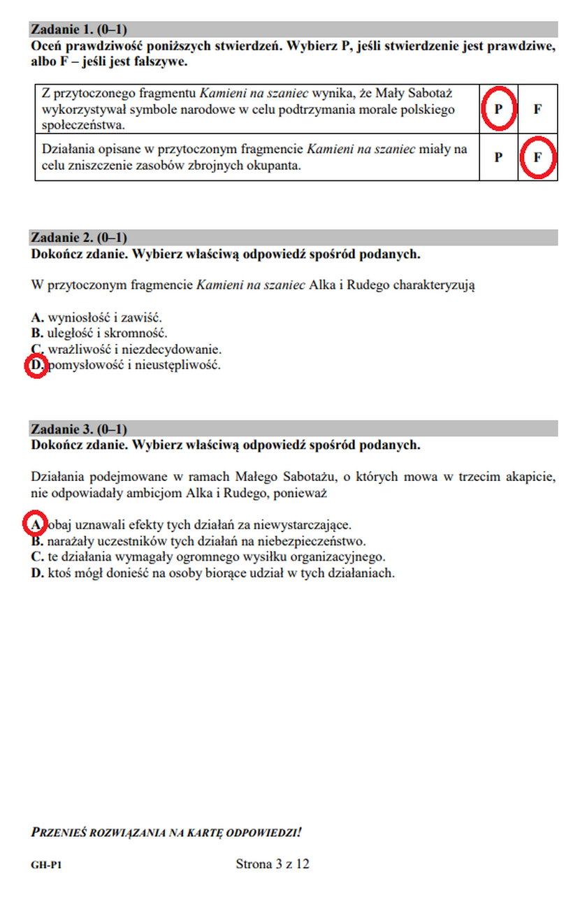 Egzamin gimnazjalny. Język polski. Zadania 1-3