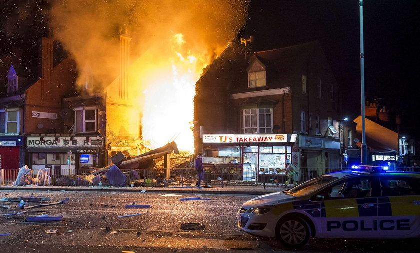 Wybuch w polskim sklepie.