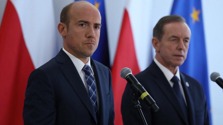 Konferencja Borysa Budki i prof. Tomasza Grodzkiego
