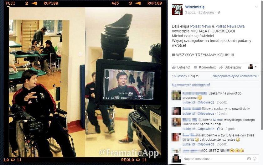 Michał Figurski - pierwszy wywiad po wylewie na Polsat News 2