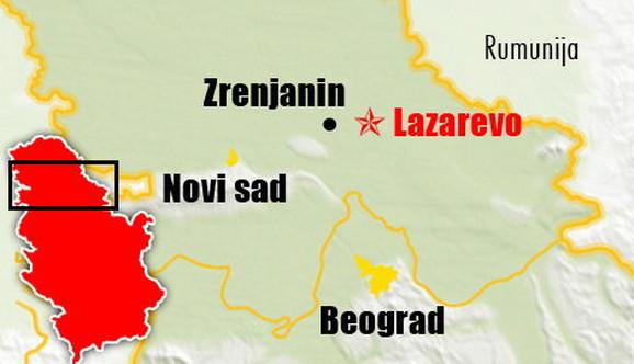 Mapa: Ratko Mladić uhapšen u Lazarevu kod Zrenjanina