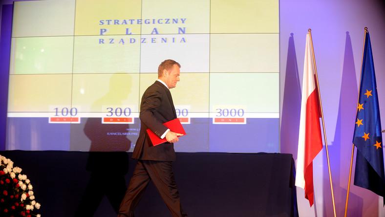 Zobacz, co Tusk obiecał na 100 dni rządów