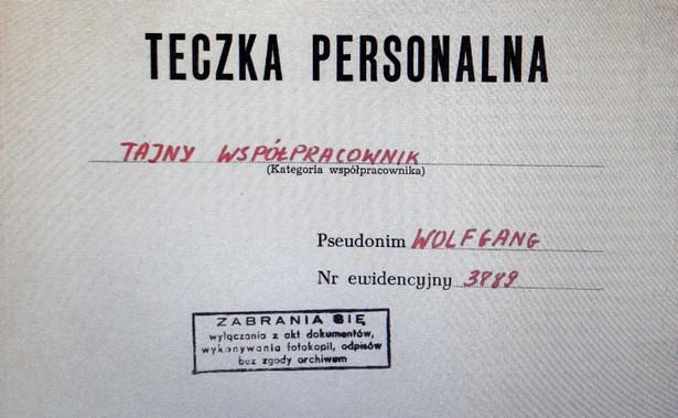 """Teczka personalna tajnego współpracownika pseudonim """"Wolfgang"""", dotycząca Andrzeja Przyłębskiego, została udostępniona w poznańskim oddziale IPN."""
