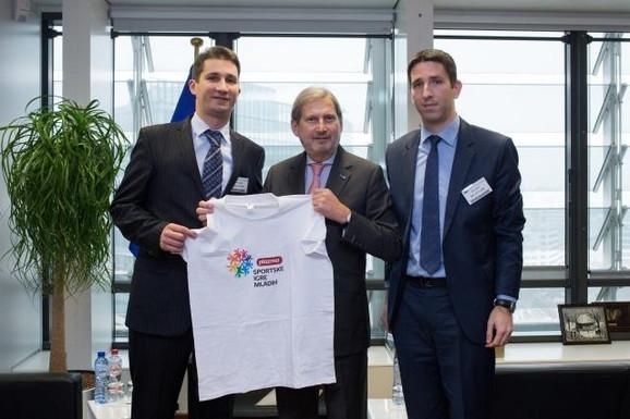 Johanes Han sa delegacijom Sportskih igara mladih